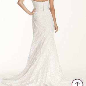 Galina Strapless Lace Gown w/ ribbon detail
